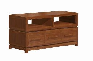 modern minimalist tv stand cabinet 3 drawers teak mahogany indoor furniture