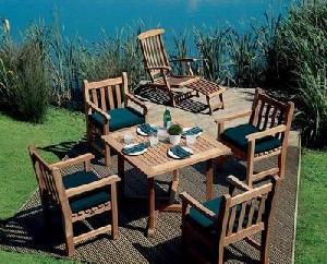 teka garden steamer chair coffee table