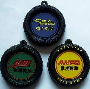wholesale promotional gifts pvc tire keychain