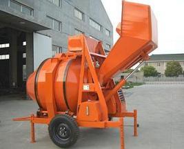 diesel engine power reverse drum concrete mixer heavy duty loading hopper
