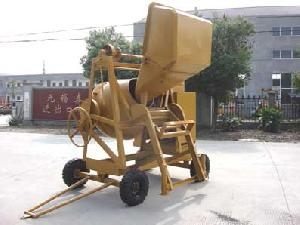 tilting drum concrete mixer heavy duty loading hopper