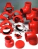 fm ul approved ductile iron grooved pipe fittings