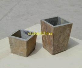 slate planter stone flowerpot slateofchina