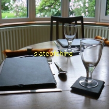 slate plate stone tablemat placemat cup slateofchina