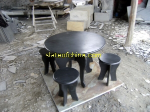 slate flooring tile mosaic table chair slateofchina