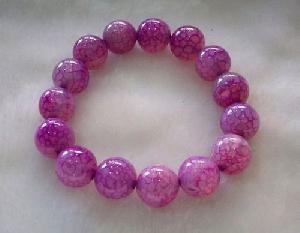 cracked agate bracelet