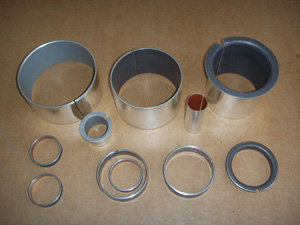 lubricating bearing teflon bushing dry bush ptfe coated bushes