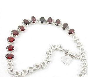 factory 925 silver garnet bracelet mix gem blue topaz earring buby jewelry