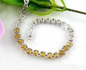 factory 925 silver topaz bracelet earring mix gem necklace blue