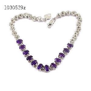 factory 925 silvernatural amethyst bracelet prehnite tourmaline blue topaz ring