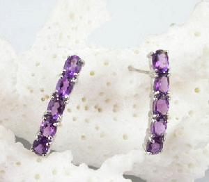 factory sterling silver amethyst stud earring tourmaline ring citrine bracelet