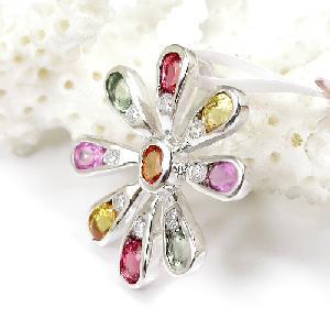 factory sterling silver gemstone pendant tourmaline citrine amethyst ring earring