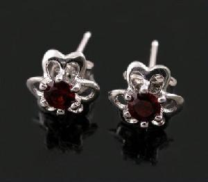 factory sterling silver garnet stud earring amethyst pendant jade bracelet ruby prehnite ri