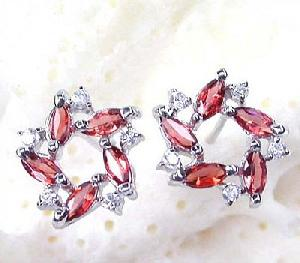 factory sterling silver garnet stud earring jade bracelet ruby ring prehnite pendant