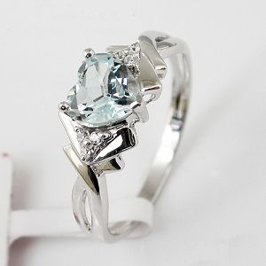 factory sterling silver blue topaz ring brass cz jewelry gem stone