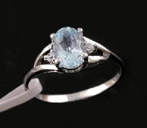 factory sterling silver blue topaz ring sapphire tourmaline brass cz jewelry