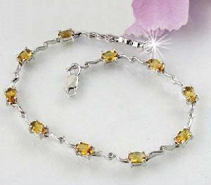 factory sterling silver citrine bracelet amethyst blue topaz olivine sapphire ear