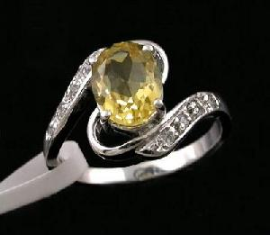 factory sterling silver citrine ring cz jewelry tourmaline smoky quartz pendant