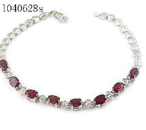 factory sterling silver garnet bracelet sapphire earring gem stone jewelry