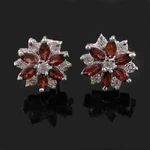 factory sterling silver garnet earring fashion jewelry olivine sapphire