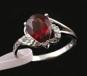 factory sterling silver garnet ring tourmaline pendant fashion jewelry