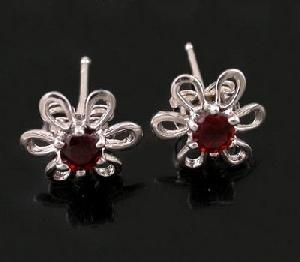 factory sterling silver garnet stud earring tourmaline ring citrine bracelet