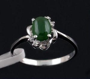 factory sterling silver jadeite ring olivine bracelet sapphire earring
