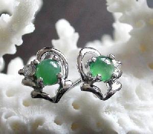 factory sterling silver jadeite stud earring amethyst pendant fashion cz jewelry