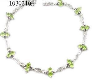 factory sterling silver olivine bracelet jade prehnite ruby earring