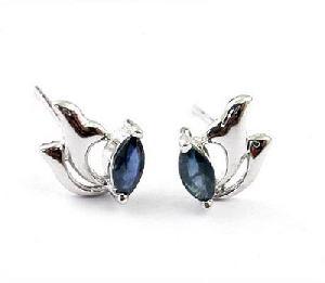 factory sterling silver sapphire stud earring blue topaz bracelet amethyst ring