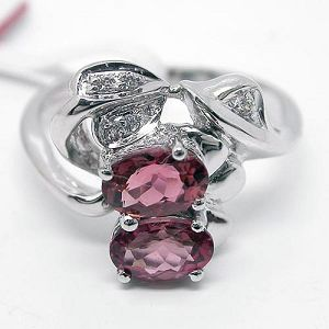 factory sterling silver tourmaline ring brass cz jewelry ruby garnet earring pendan