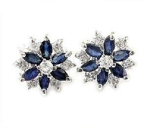 factory sterling silver sapphire stud earring brass cz jewelry olivine