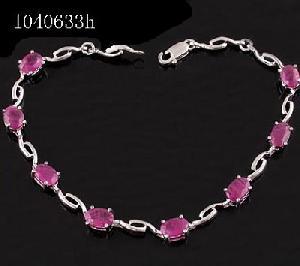 factory sterling silvernatural ruby bracelet tourmaline earring fashion jewelry