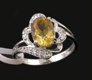 manufactory sterling silver citrine ring gemstone jewelry sapphire cz