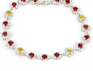manufacturer 925 silver mix gem bracelet garnet citrine agate ring earring