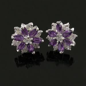 manufacturer 925 silver amethyst earring tourmaline ruby blue topaz pendan