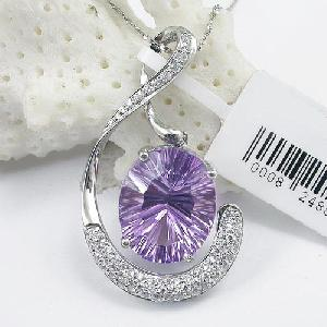 manufacturer 925 silver amethyst pendant agate ruby blue topaz earring