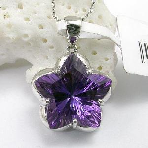 manufacturer 925 silver amethyst pendant blue topaz garnet earring