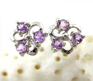 manufacturer 925 silver amethyst stud earring sapphire tourmaline ring pendant