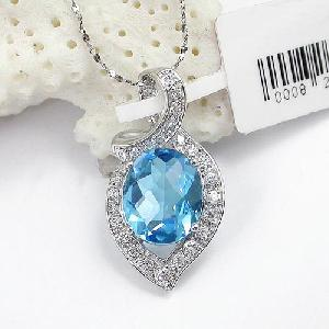 manufacturer 925 silver blue topaz pendant agate ruby ring
