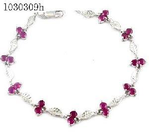 manufacturer 925 silver ruby bracele blue topaz necklace olivine bracelet