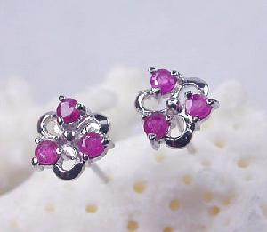 manufacturer 925 silver ruby stud earring rose quartz bracelet garnet ring
