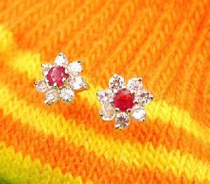 manufacturer 925 silver ruby stud earring tourmaline blue topaz ring