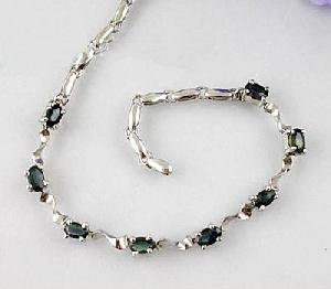 manufacturer 925 silver sapphire bracelet citrine blue topaz ring gem jewelry