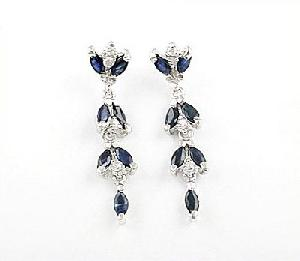 manufacturer 925 silver sapphire drop earring blue topaz olivine ring