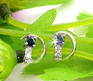 manufacturer 925 silver sapphire stud earring jade tourmaline bracelet fashion jewel