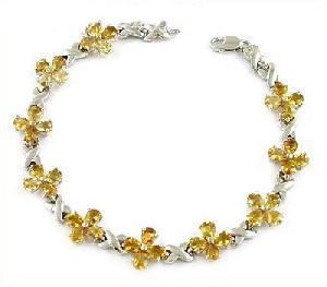 manufacturer 925 silver topaz bracelet agate earring citrine blue