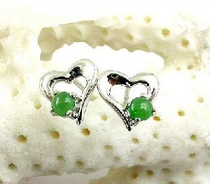 manufacturer sterling silver jadeite stud earring ruby tourmaline prehnite necklace