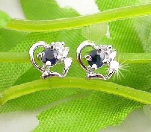 manufacturer sterling silver sapphire stud earrin amethyst chalcedony ring jewelry s