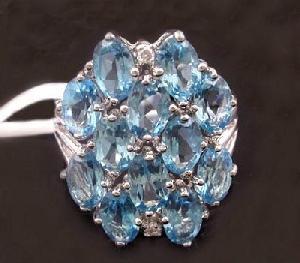 manufacturer sterling silvernatural blue topaz ring citrine pendant bracelet gem stone